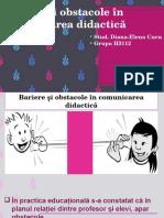 Bariere Și Obstacole În Comunicarea Didactică, Diana C