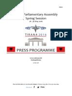 Asambleja e NATO-s - Programi