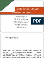 Perilaku Profesional Dalam Kewirausahaan