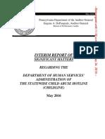 Pa. ChildLine Interim Report