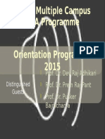 Orientation Programme 2015