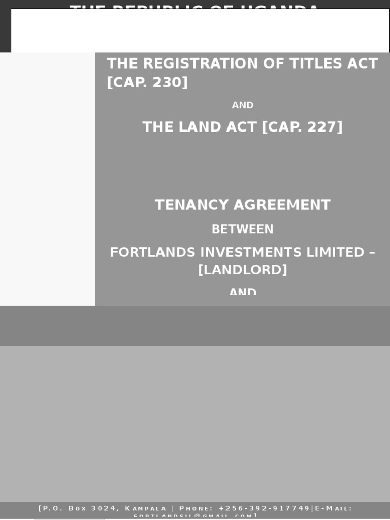 Tenancy Agreement Leasehold Estate Landlord