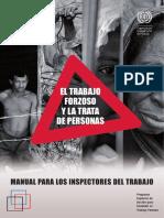 El Trabajo Forzoso y La Trata de Personas. Manual Para Inspectores de Trabajo