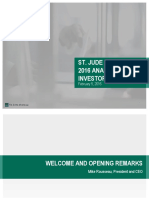 St. Jude Medical 2016 Analyst and Investor Day Presentation
