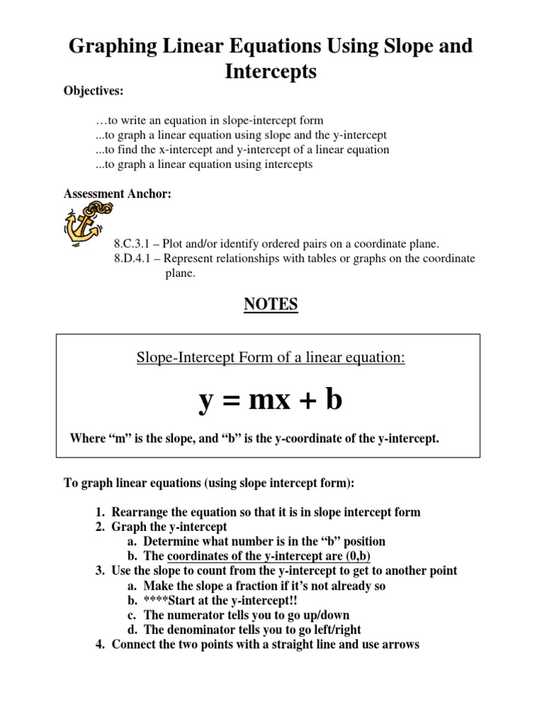 Writing and graphing linear equations word problems on quadratic notes graphing linear equations slope and intercepts logical 1519527709v1 notes graphing linear falaconquin