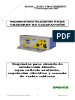 Manual Termoregulador Calderas Ivar