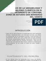 Análisis de La Variabilidad y Estacionalidad Climática