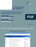 Overview of Discretionary Programs in Health Care Reform |  Patient Protection and Affordable Care Act(as amended by the Health Care and Education Reconciliation Act of 2010)  |   National Health Service Corps         051210teleconf