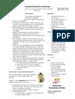 survival exercise scenarios - description of a group dynamics team building exercise