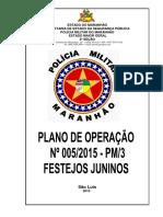 005 2016 Plano de Operação