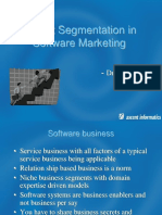 Market Segmentation in Software Services Companies - Dr. Arvind Tilak (1)