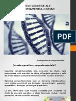 Bazele Genetice Ale Comportamentului CURS 1 (2)