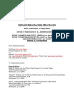 NOTICE OF EXPATRIATION & REPATRIATION