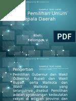 Sistem Pemilihan Umum Kepala Daerah