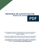 2010- Memoria de Justificación General