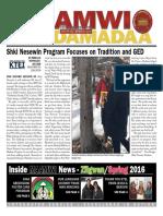 Maamwi Naadamadaa Newspaper - Spring 2016