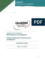 Unidad 2. Elaboracion Del Proyecto de Investigacion_Contenido Nuclear