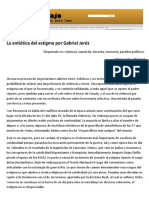La Antiética Del Estigma - Por Gabriel Jeréz