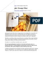 New Natural Fiber Orange Fiber