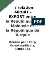 Turquie-  Moldavie Import Export en francais.Doc