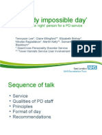 The Day was bloody impossible – but I got something out of it. Selecting the right person for a PD service
