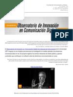 Observatorio de Innovación en Comunicación Digital