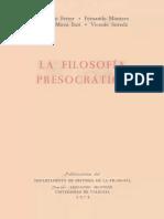 Francisco Ferrer, Fernando Montero, Carlos Moya Espí & Vicente Sureda, La Filosofía Presocrática