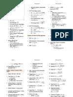 CFA Level 1, June, 2016 - Formula Sheet