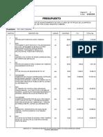 Presupuesto Proyecto PDVGAS COMUNAL