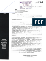 Carta al Ministerio de Justicia - Reparaciones
