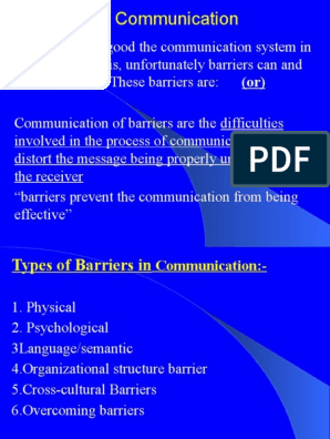 Barriers to Communication | Discrimination | Attitude