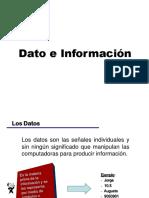 1. Dato e Información