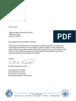 Letter From Oak Lawn Park District