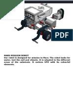 MARS MISSION ROBOT