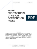 WDSF PD Competition Rules 1