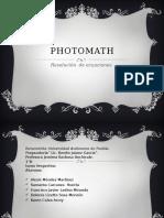 photomath- semana 2 (proyecto) - 1°BV