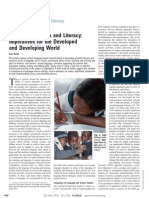 Science Education and Literacy -- Imperatives for the Developed and Developing World
