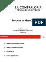 Presentación de Gestion CGR - 2015 Final