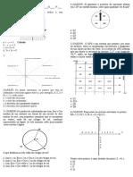 Avaliação Matemática 1 Bimestre
