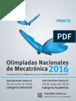 CO Brochure Olimpiadas de Mecatronica 2016