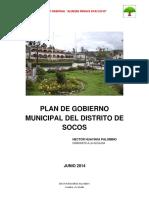 Plan de Gobierno Socos- Hector Huayhua