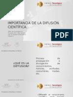 Importancia de La Difusión Científica