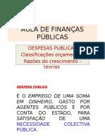 AULA Despesas Publicas 2013