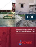 Ancade (Spanish Lime Association) - Guia Practica Para Los Morteros Con Cal (Brochure)