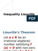 Inequality Liouville