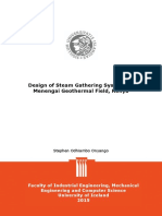 Design of Steam Gathering System on Geothermal