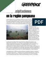 Las Precipitaciones en La Region Pampeana