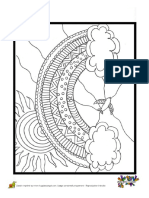 Coloriage Cahier de Vacances en Arc en Ciel - Hugolescargot