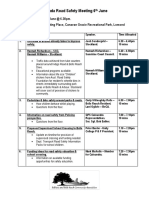 6th June Agenda Public Road Safety Meeting