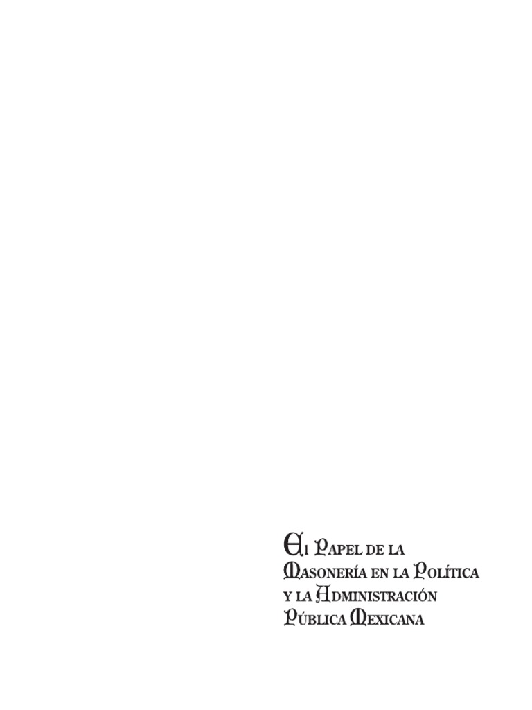 El papel de la masoneria 1c9e370bc3b
